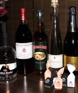 Champagner Whisky Portwein Schokolade